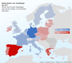 EU, Europäische Union, Lastenausgleich, Nettozahler, Nettoempfänger