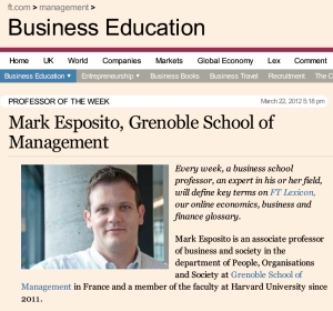 Mark Esposito ist Faculty Mitglied am Lorange Institute of Business in Horgen (Zürich)
