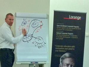 Martin Limbeck referiert in Horgen am Lorange Institute Of Business über Top Level Sales