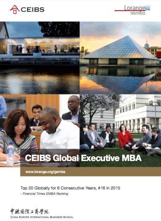 Lorange CEIBS Global Executive MBA Zurich Switzerland